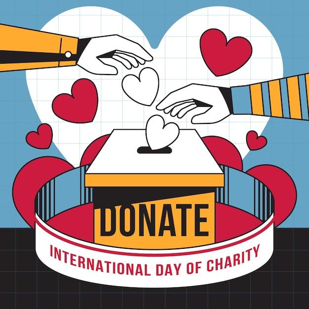 心のこもった国際慈善の日 無料ベクター