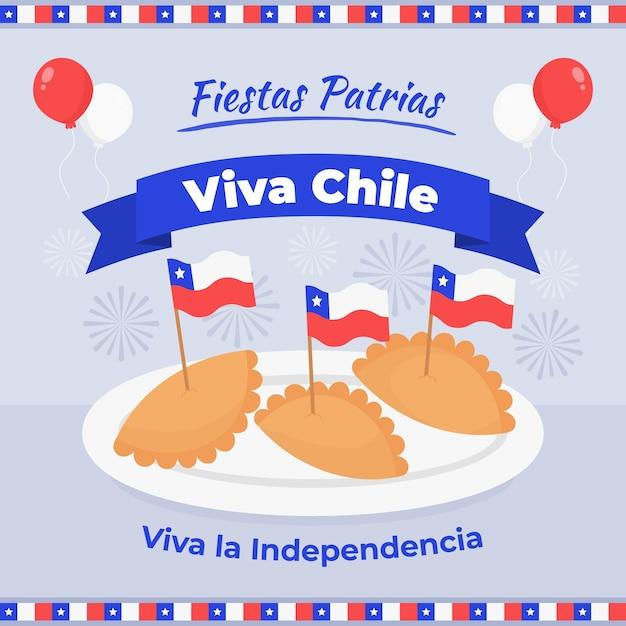 チリをテーマにした国際デー 無料ベクター