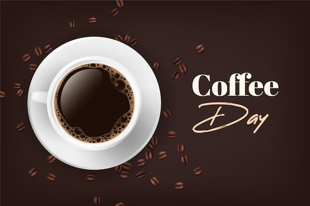 コーヒーの国際デー 無料ベクター