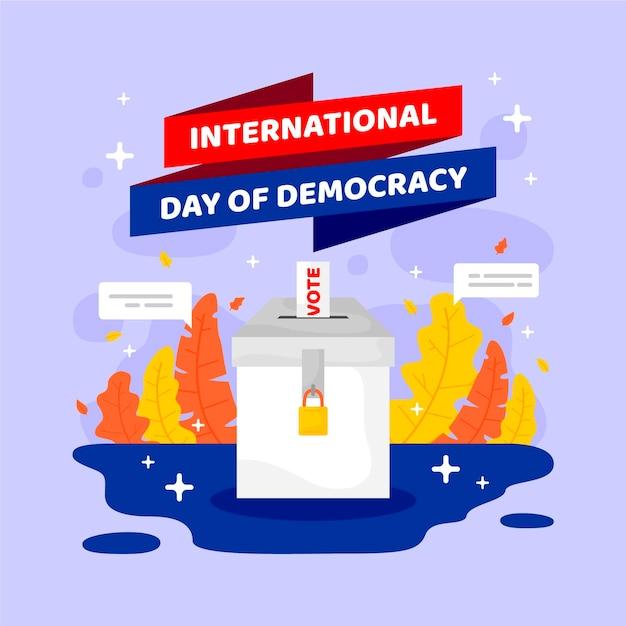 Международный день демократии Бесплатные векторы