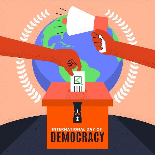 民主主義イベントの国際デー 無料ベクター