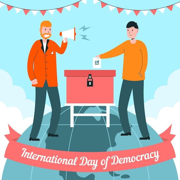 国際民主主義の日 無料ベクター