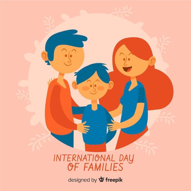 국제 가족의 날 배경 무료 벡터