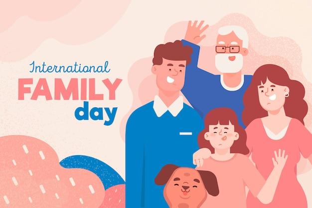 가족 디자인의 국제 날 프리미엄 벡터