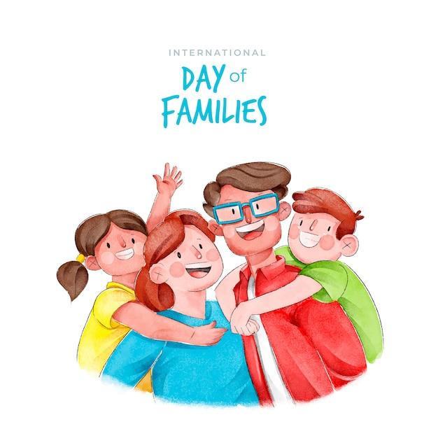 국제 가족의 날 무료 벡터