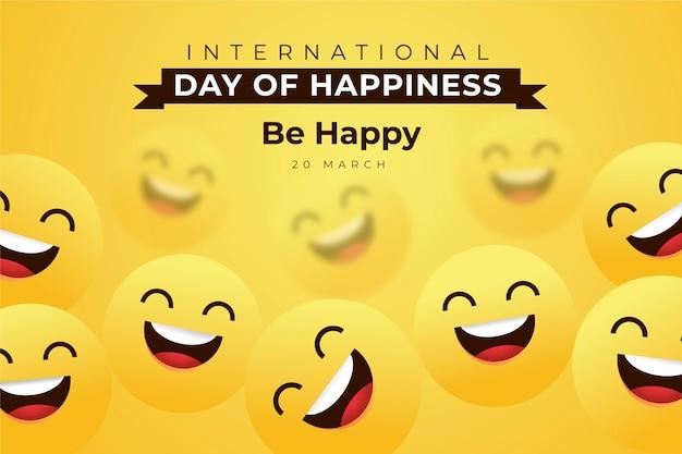 국제 행복의 날 일러스트레이션 무료 벡터