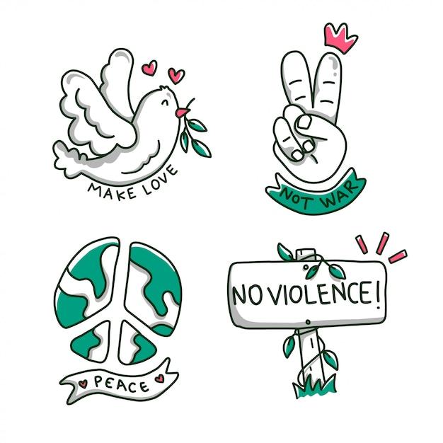 非暴力の国際デー Premiumベクター