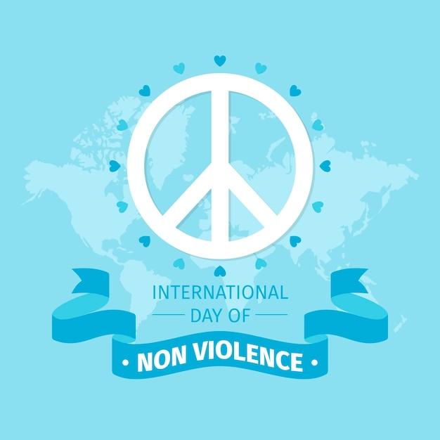 Международный день ненасилия Premium векторы