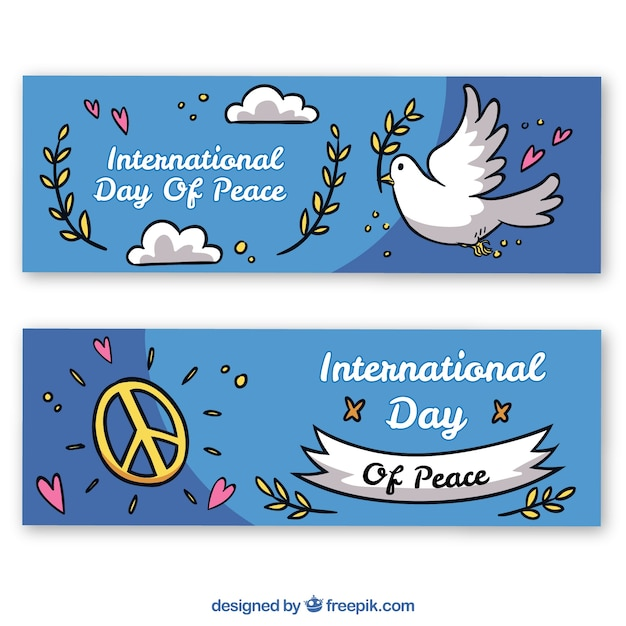 International day of peace banners