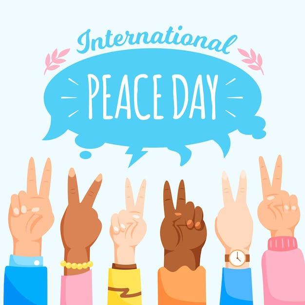 国際平和の日 無料ベクター
