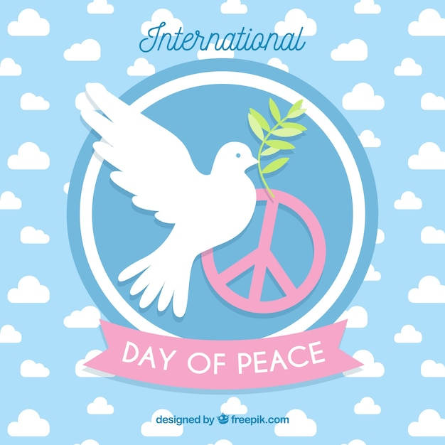 International Day Of Peace Dove With An Olive Branch And The Symbol