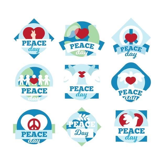 平和ラベルの国際デー 無料ベクター