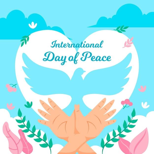 国際平和デー 無料ベクター