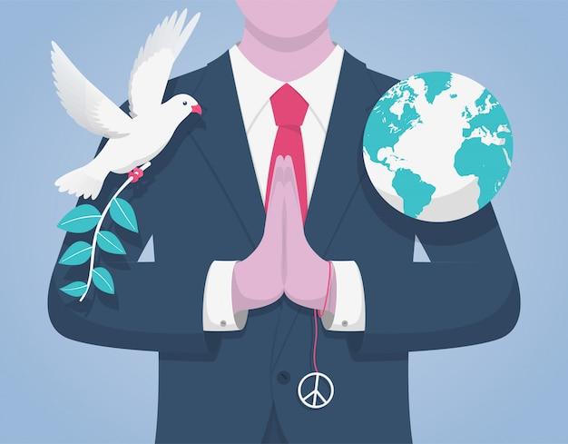 Международный день мира. Premium векторы