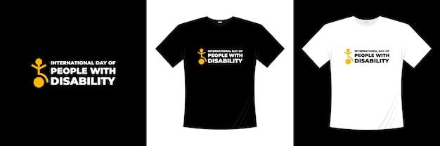Международный день людей с инвалидностью типографика дизайн футболки Premium векторы