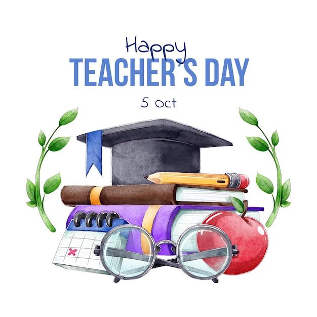 教師の国際デー 無料ベクター