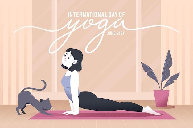 Международный день концепции йоги Бесплатные векторы