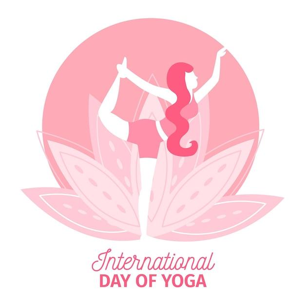 Международный день йоги, плоский дизайн Бесплатные векторы