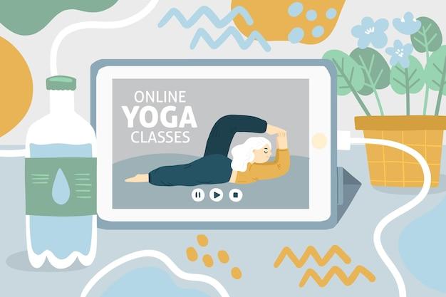 Международный день йоги рисованной внутренний мир Бесплатные векторы