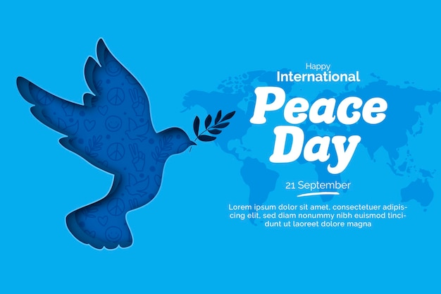 International day of peace in paper style Premium Vector