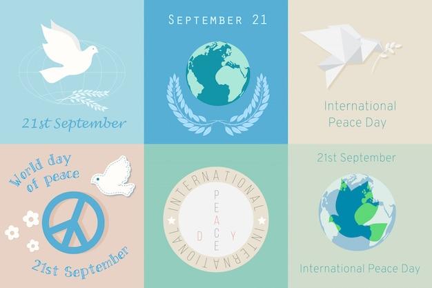 International day of peace Premium Vector
