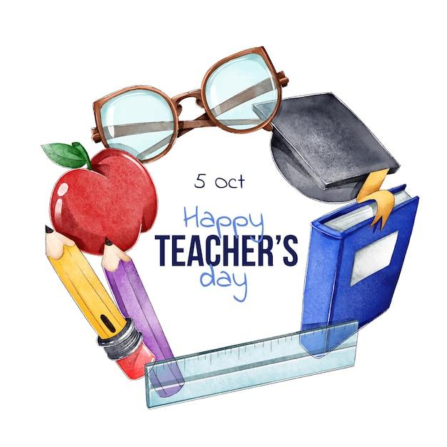 Giornata internazionale degli insegnanti Vettore gratuito