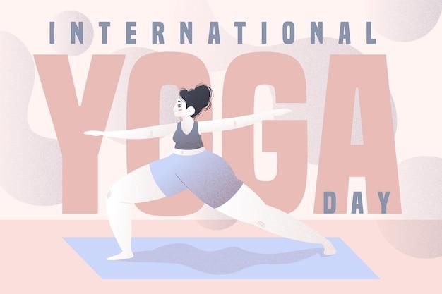 International day of yoga illustration Free Vector