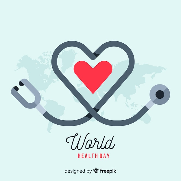 International health day background Free Vector