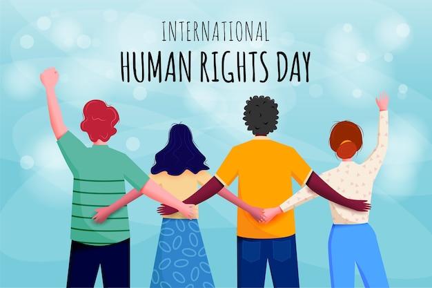 国際人権デーバナー Premiumベクター