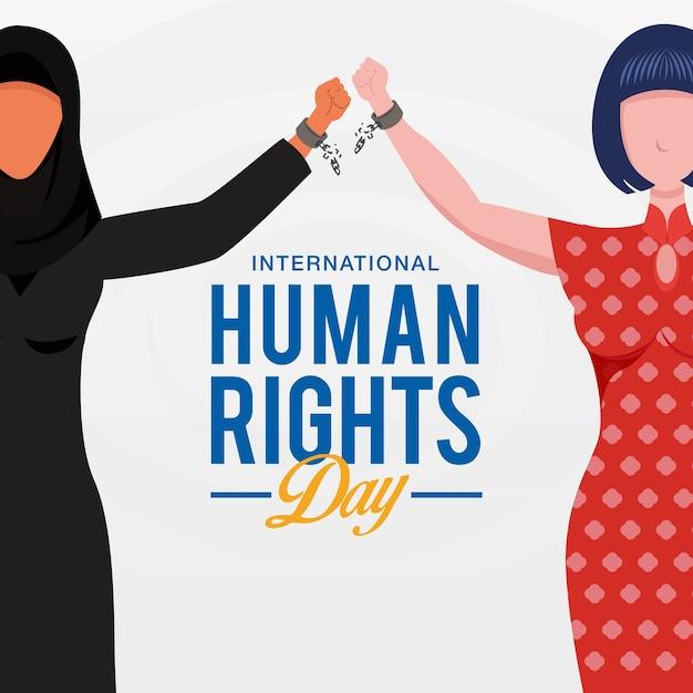 国際人権デー Premiumベクター