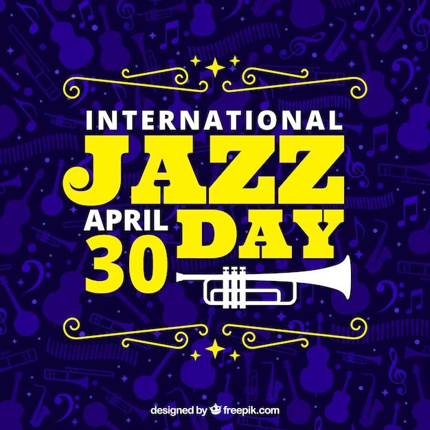 International jazz day background Free Vector