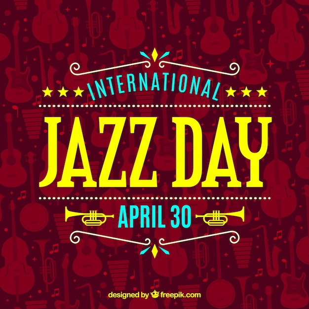 International jazz day background Free Vector