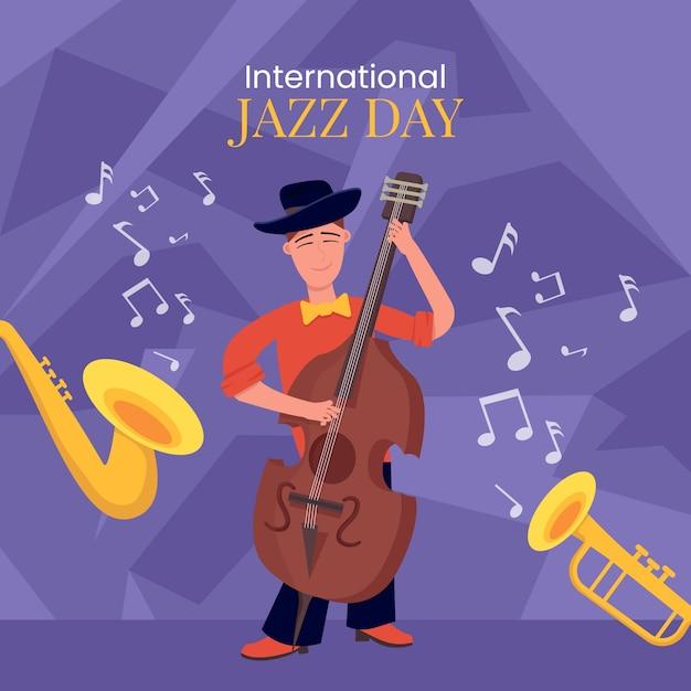 国際ジャズデーのコンセプト 無料ベクター
