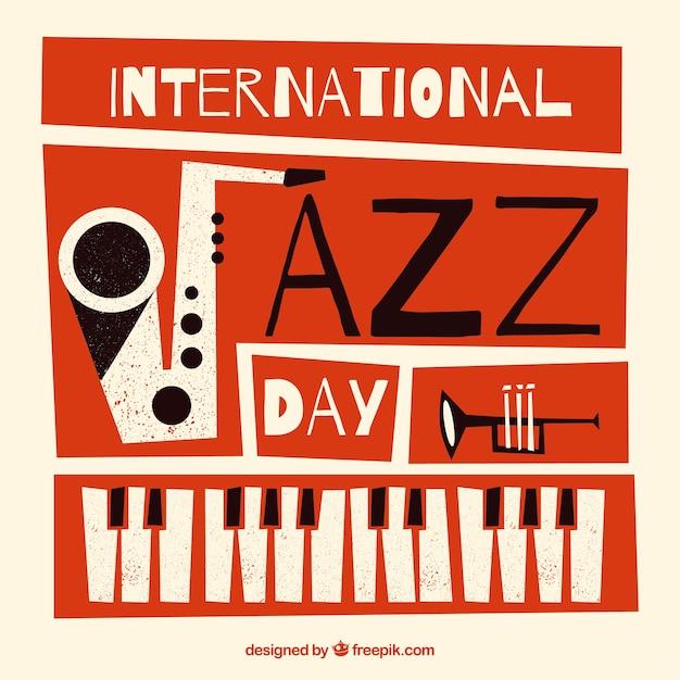 Международный день джазового дня Бесплатные векторы
