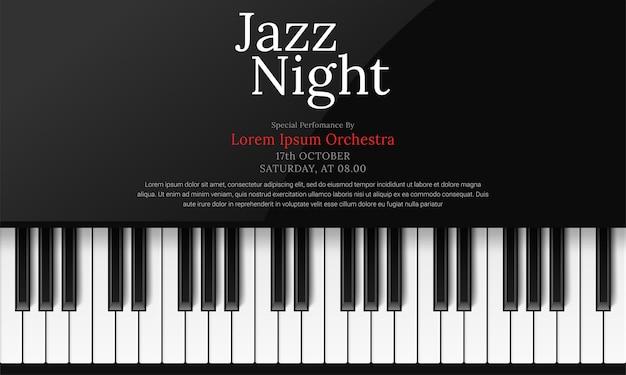 Modello di poster giornata internazionale del jazz con pianoforte Vettore gratuito