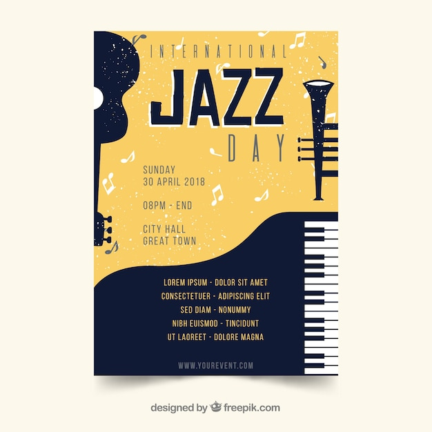 international jazz day poster vector free download rh freepik com vector post pounder vector post pounder