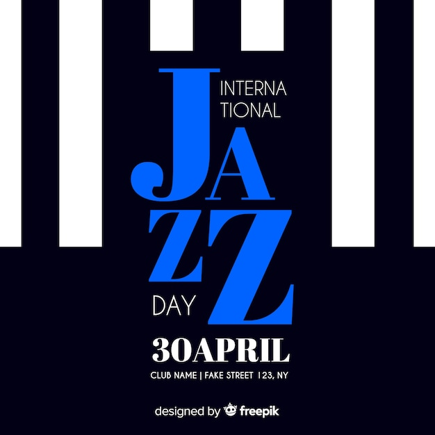 International jazz day retro vintage flyer / poster Free Vector
