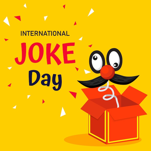 International joke day Premium Vector