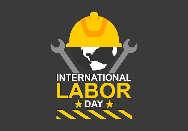 International labor day  logo vector Premium Vector