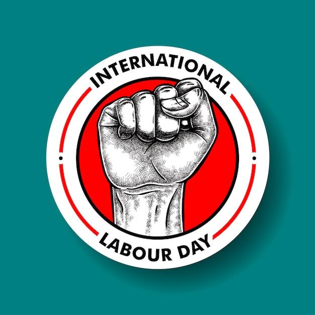 International labour day Premium Vector