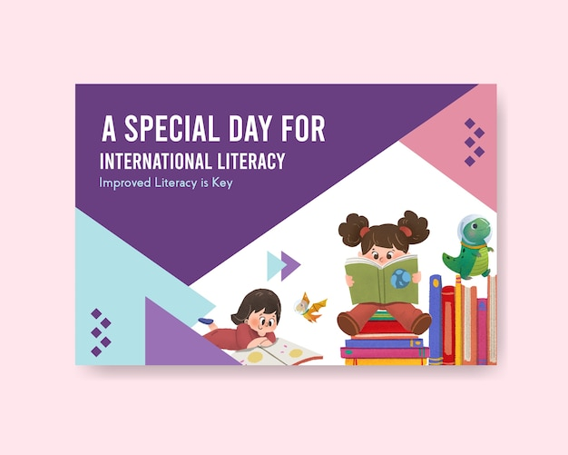 International literacy day concept design Free Vector