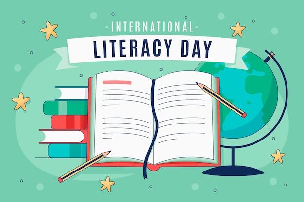Международный день грамотности Бесплатные векторы