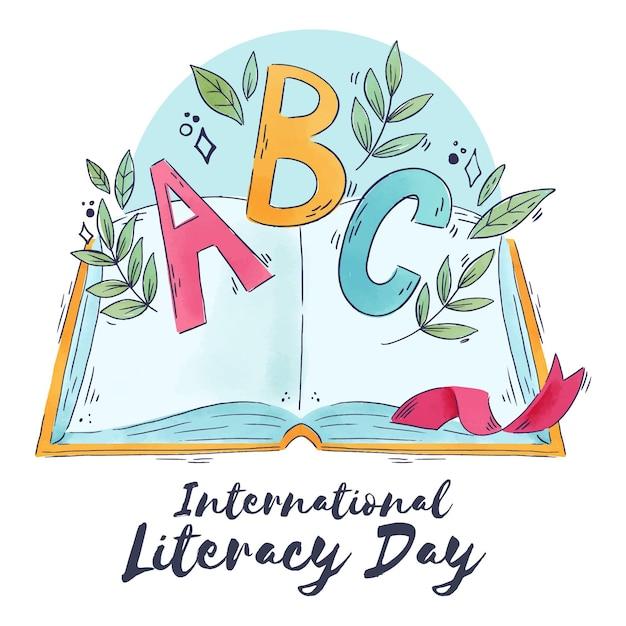 International literacy day Free Vector