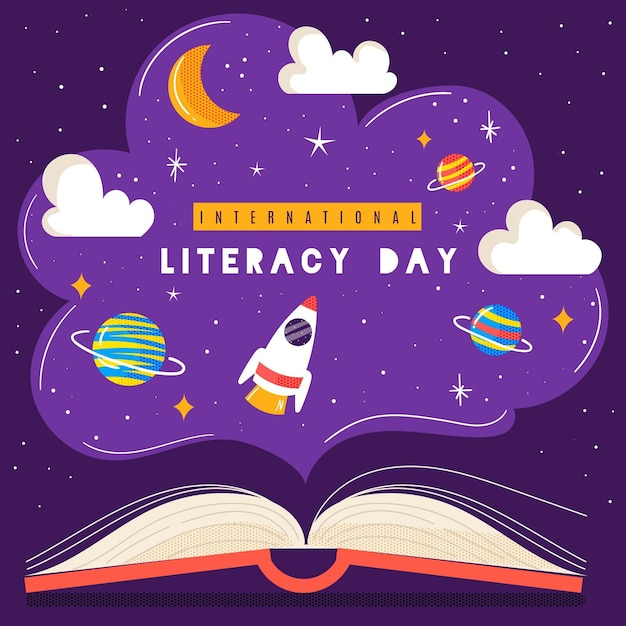 International literacy day Free Vector