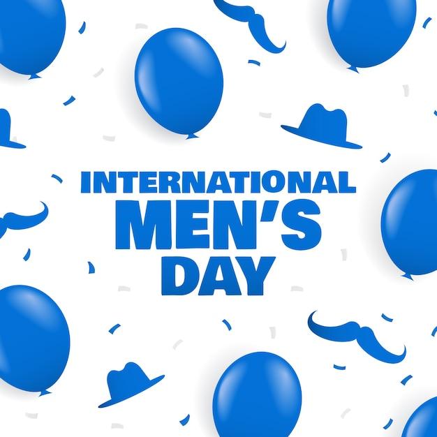 Международный мужской день фон Premium векторы