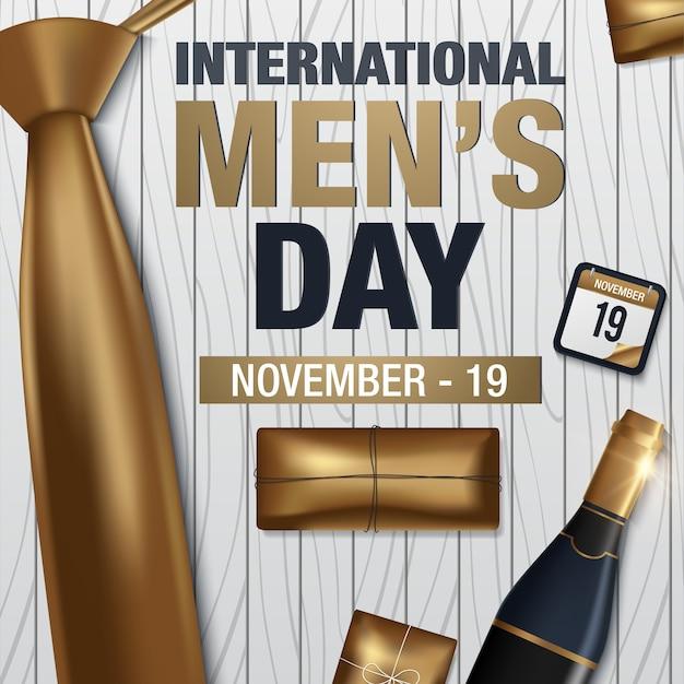 International men's day vector greeting card Premium Vector
