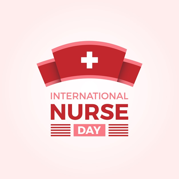 International nurse day background Free Vector