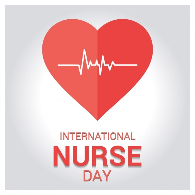 International nurse day greeting card Free Vector