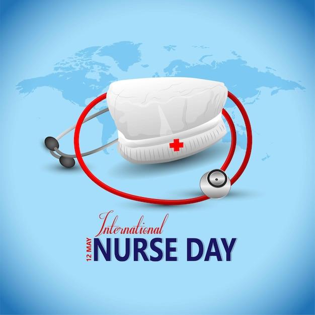 International nurse day. Premium Vector