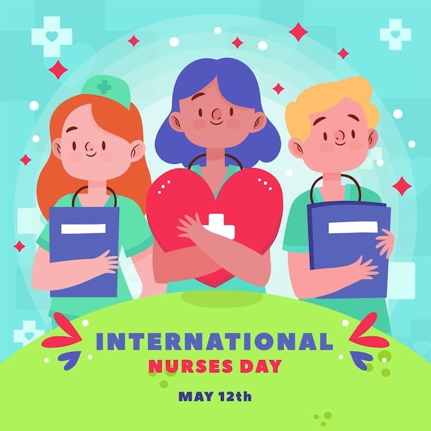 International nurses day concept Premium Vector